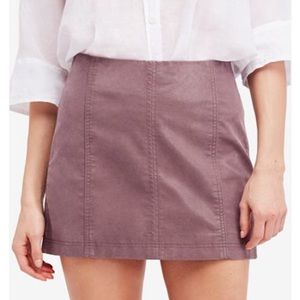 Free People modern femme faux leather skirt